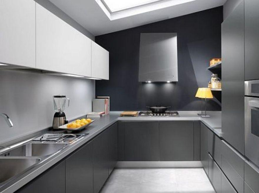 Beautiful Clean Grey Kitchen Kb Interior Decor