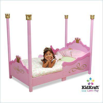 KidKraft Princess Girls Toddler Bed in Pink