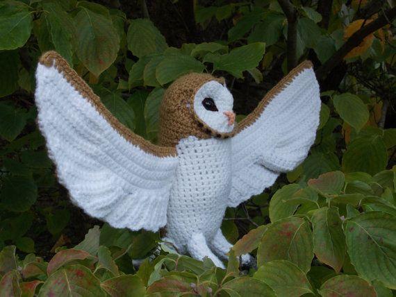 Crochet Barn Owl Pattern (PDF) | Owl patterns, Crochet ...