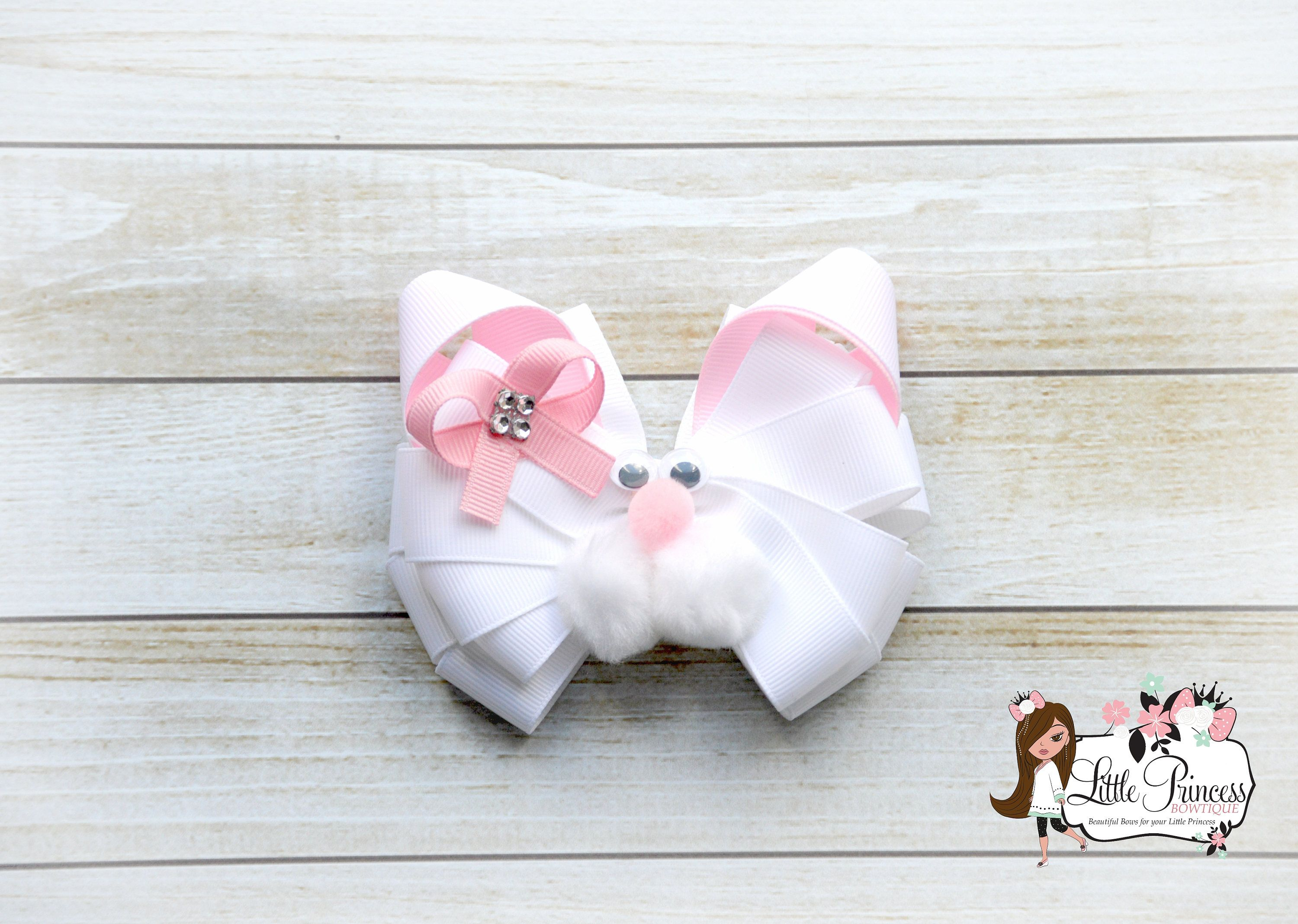 3x Baby girls hair bow clip little girls toddler babies bow hair clips pink bows