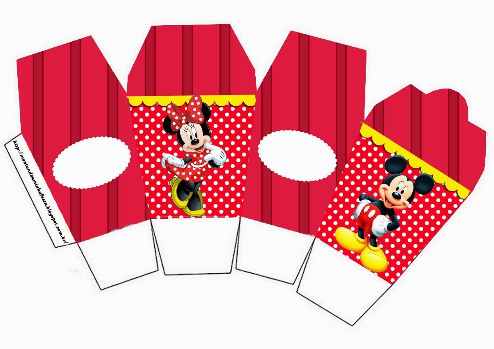Moldes De Palomas Para Imprimir: Minnie Y Mickey: Cajas Para Imprimir Gratis.