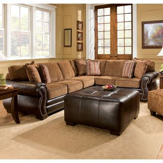 furniture of america allister transitional style two tone sectional rh pinterest ch