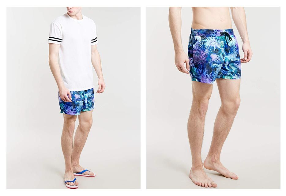 Tropical Man – A selection of fresh and stylish prints!  Whether you're heading on holiday or just chilling in the park, tropical print clothing is the must-have summer trend. Sea Anemone Print Swim Shorts Price £26.00 Available in http://www.creativeboysclub.com/tropical-man-a-selection-of-fresh-and-stylish-prints