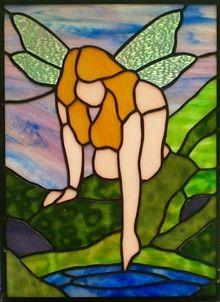 Dragonfly Fairy.glas in lood....ph