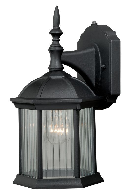 """Vaxcel Lighting T0130 Kingston 1 Light 5"""" Wide Outdoor Wall Sconce with Photocel Textured Black Outdoor Lighting Wall Sconces Outdoor Wall Sconce"""