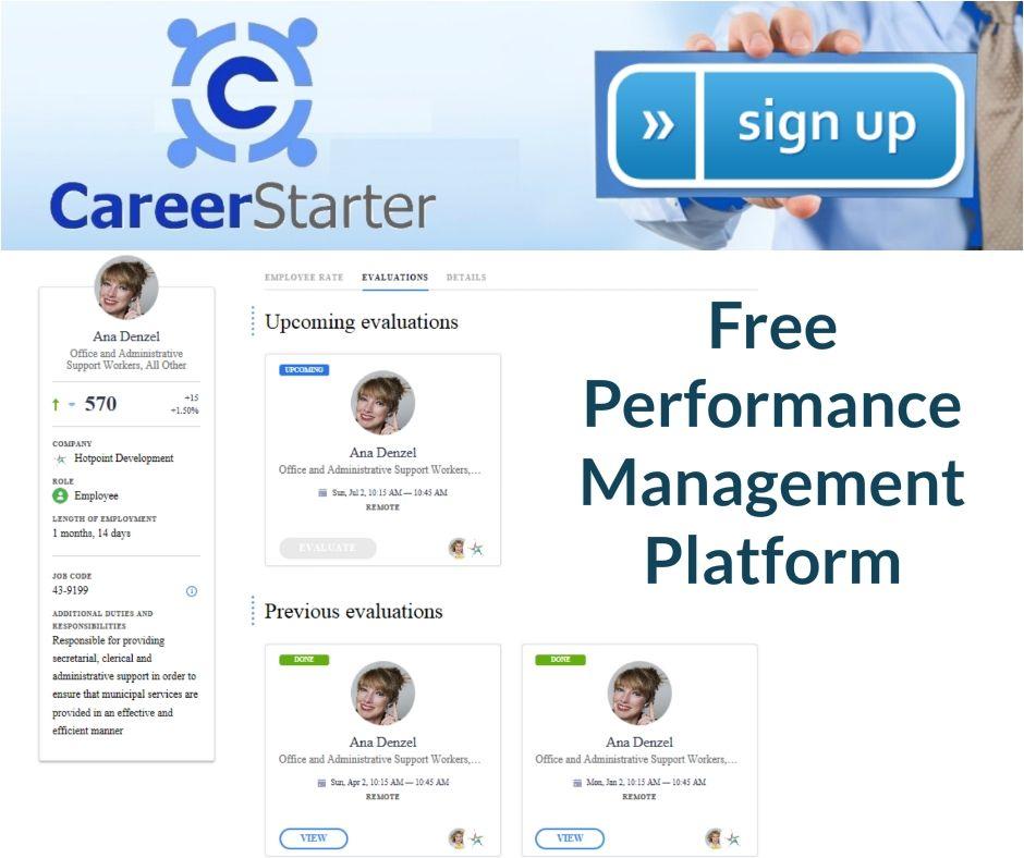 CareerstarterFree Performance Management Platform Helps Manager