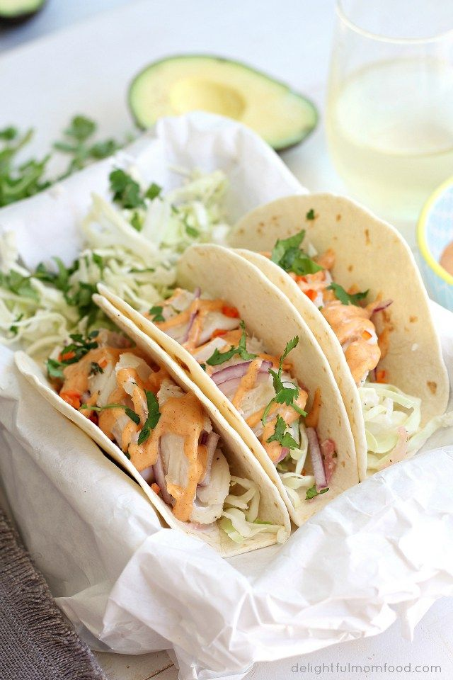Cod Fish Tacos With Southwest Sauce Delightful Mom Food Cod Fish Tacos Southwest Sauce Fish Recipes Pan Seared