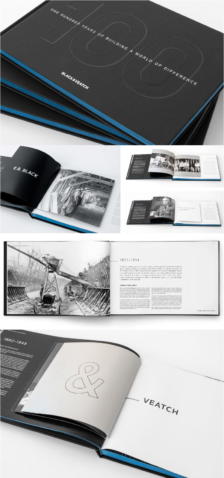 Black & Veatch Centennial Book | Copywriting, Design, Print, Art Direction | Design Ranch