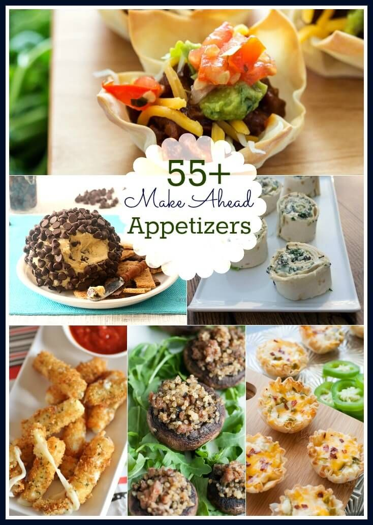 55 make ahead appetizers roundup perfect for the holidays or anytime youre hosting a party find recipe links at mealplanningmagicccom