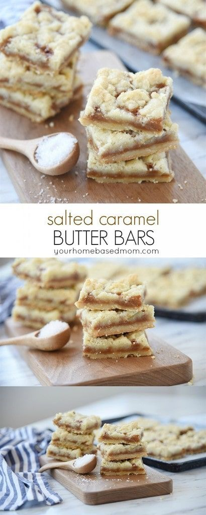 Salted Caramel Butter Bars Recipe With Images Dessert