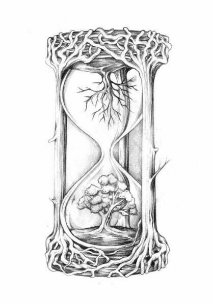 Hourglass drawing  Love this for an art journal prompt | tatoos | Pinterest | Art ...