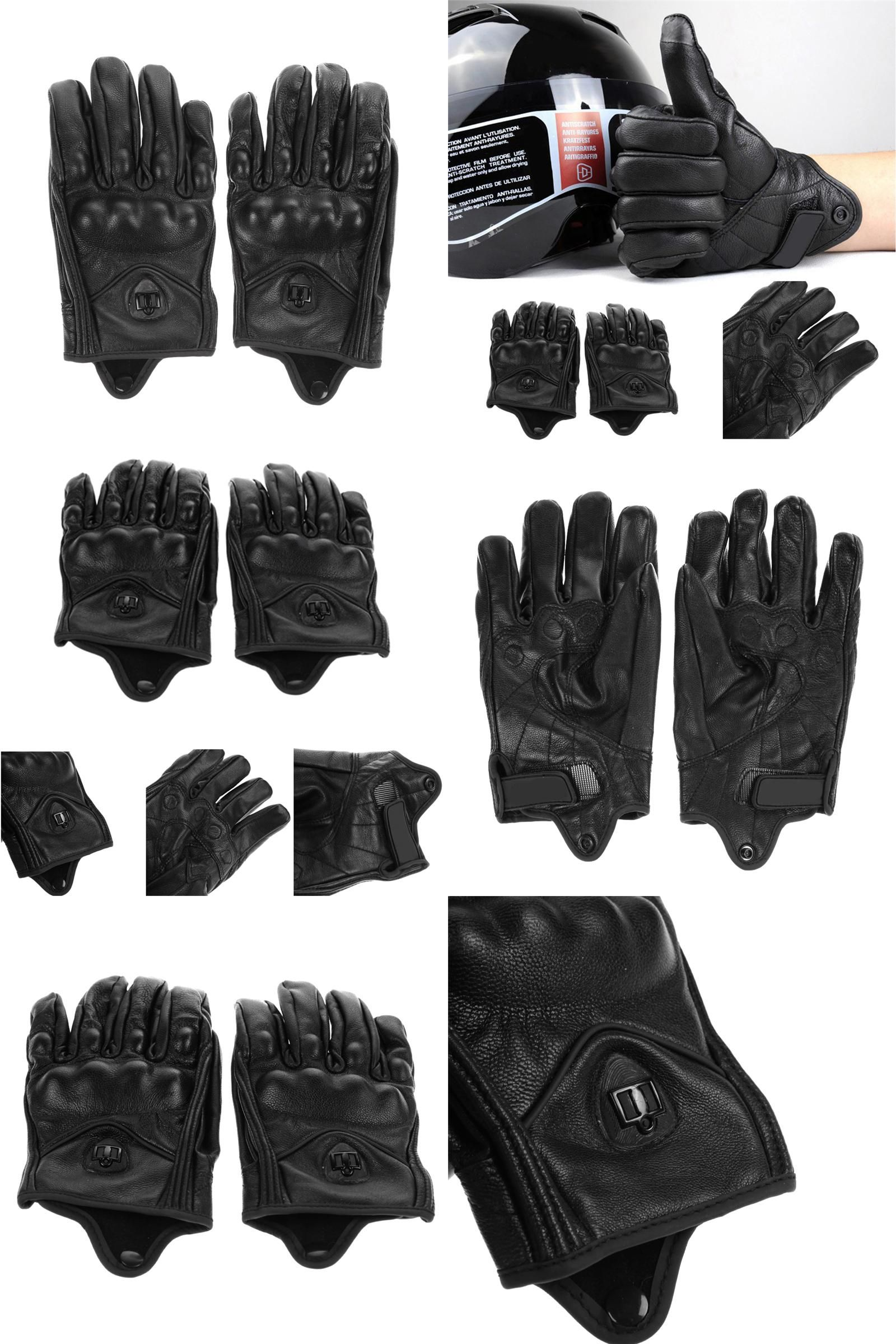 Motorcycle gloves xl -  Visit To Buy Stylish Leather Motorcycle Gloves Protective Armor Short Gloves M L
