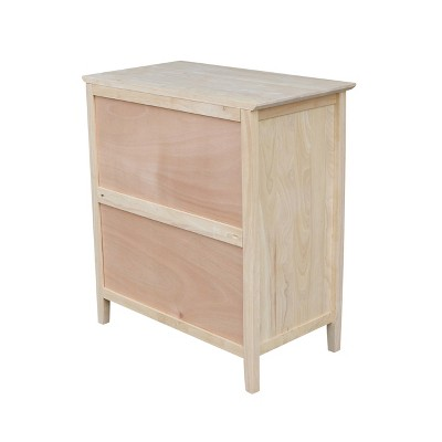 Dresser Unfinished International Concepts Brown Chest Of