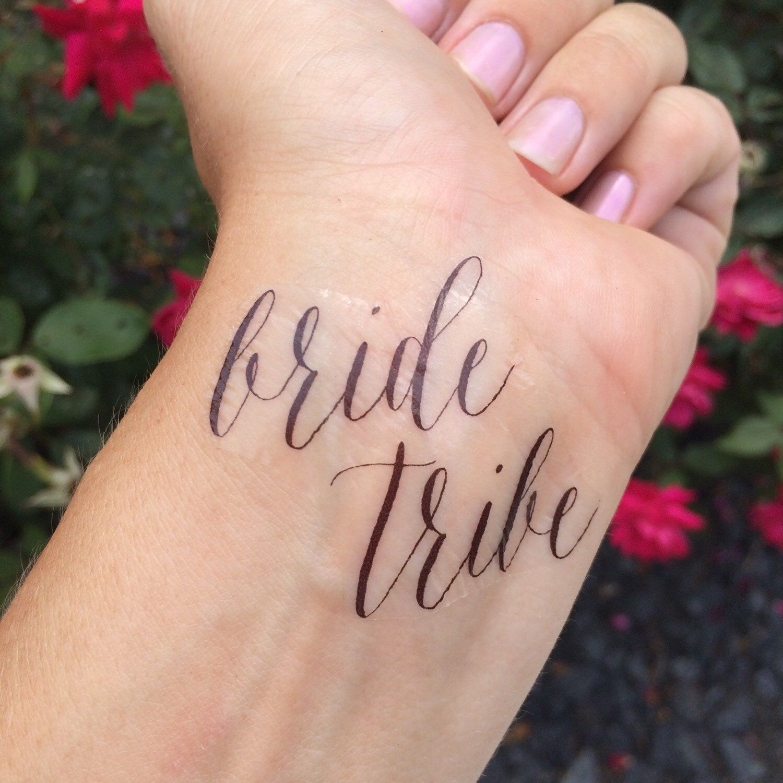 Bride Tribe, Team Bride, Temporary Tattoo, Fake Tattoo, Bachelorette ...