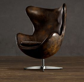 Exceptionnel 1950s Leather Copenhagen Chair   Restoration Hardware