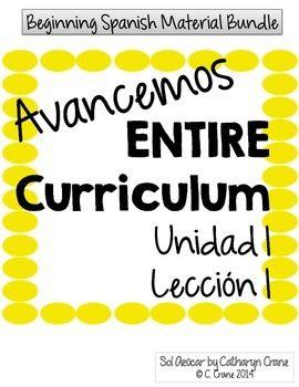 Avancemos 1 Unit 1 Lesson 1 ENTIRE Chapter Curriculum | SPANISH