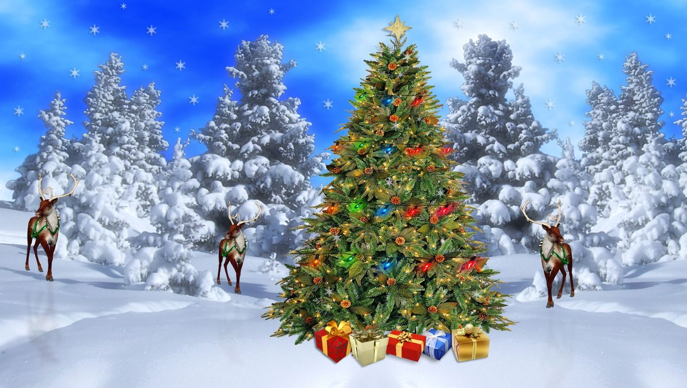 free christmas scenes backgrounds | free christmas desktop