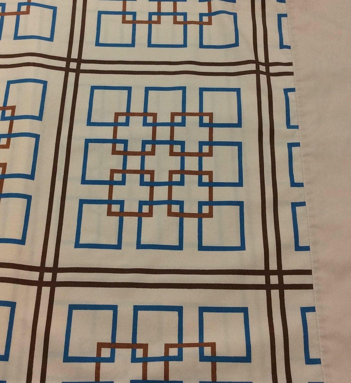 jp stevens percale twin sheet vintage yves saint laurent ysl geometric graphic twin flat sheet