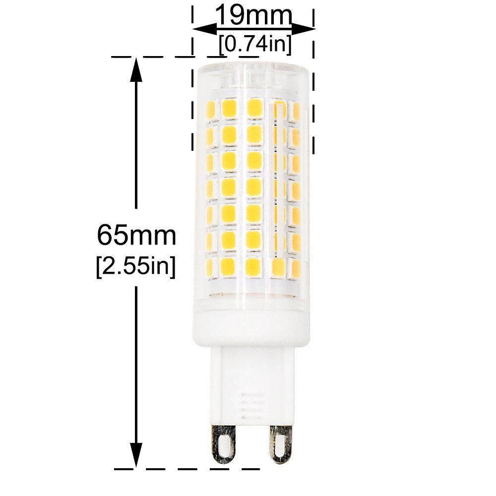 5w G9 Ceramic Base Led Light Bulbs Lustaled Led G9 Bi Pin Base