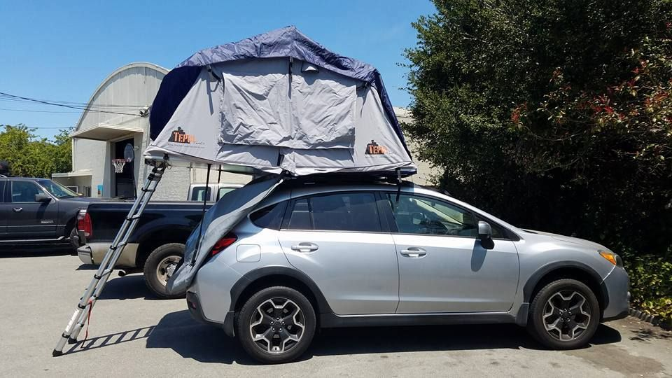 Roof top tents can be setup to fold open over the front back or either & Roof top tents can be setup to fold open over the front back or ...