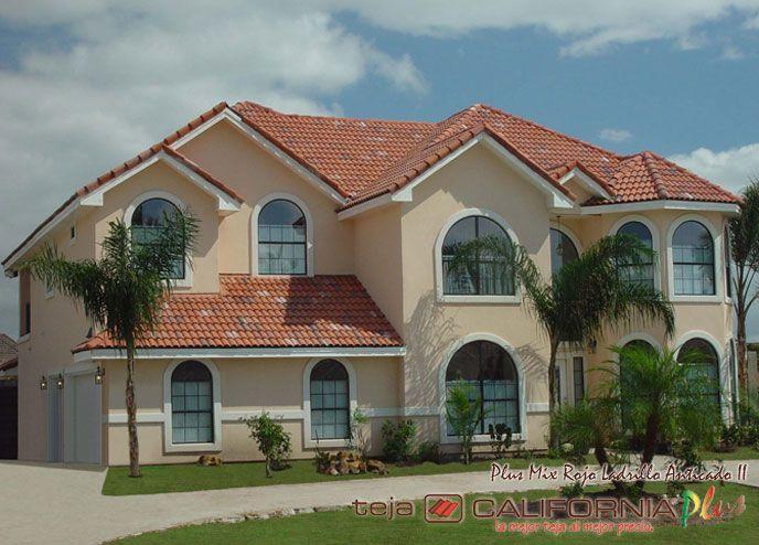 Casas con tejas google search cuartos house plans for Fachada de casas modernas con tejas