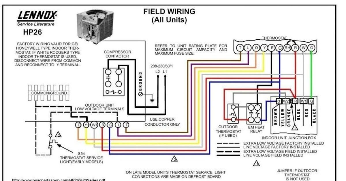 Wiring Diagram For Outdoor Thermostat Lennox Furnace Intended New Honeywell Thermostat Th4110d1007 Wirin In 2020 Heat Pump System Thermostat Wiring Carrier Heat Pump