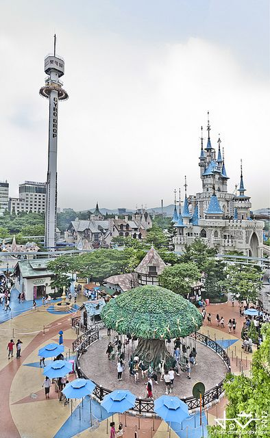Lotte World Magic Island Outdoor Theme Park Lotte World South Korea Travel Magic Island