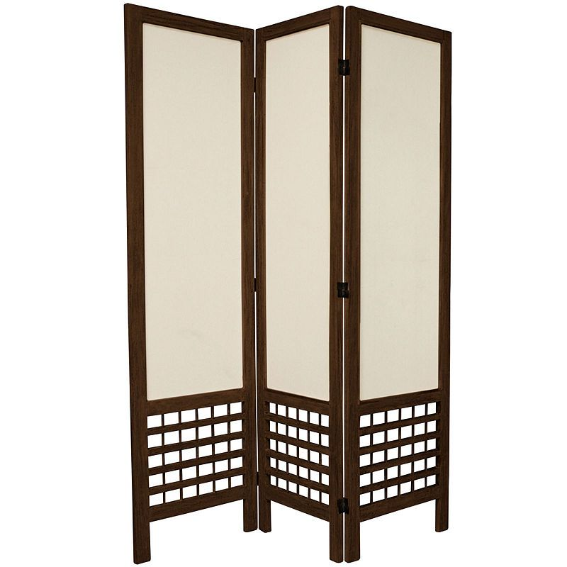 oriental furniture 5 5 open lattice 3 panel roomdivider products rh pinterest com