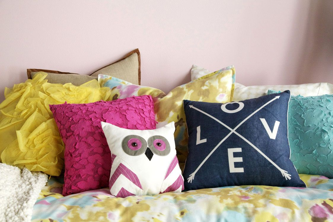 Accessorize Your Bed With Throw Pillows Dormify Smallspacestyle Dorm Http Www Dormify Com Tootsie Owl Pillow Pillows Dorm Decorations Decorative Pillows