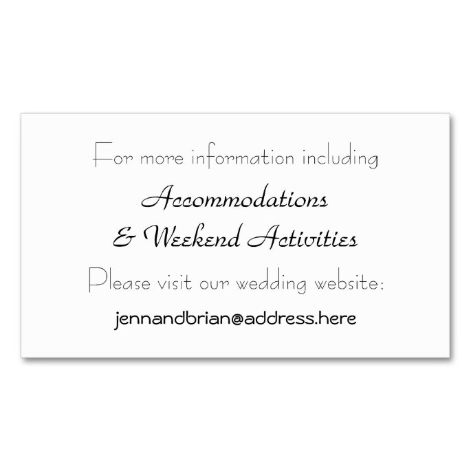 Black and white wedding website enclosure card business cards black and white wedding website enclosure card business card templatesbusiness cheaphphosting Gallery