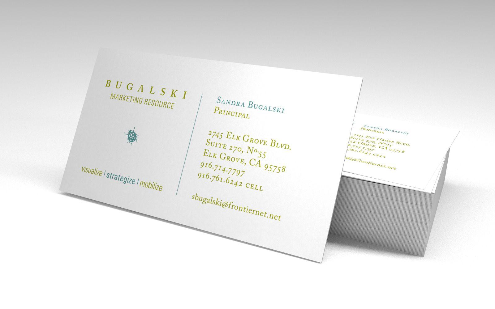 Bugalski Marketing Resource icon and business card design ...