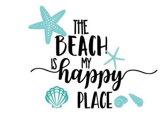 The beach is my happy place svg/beach theme svg/beach svg