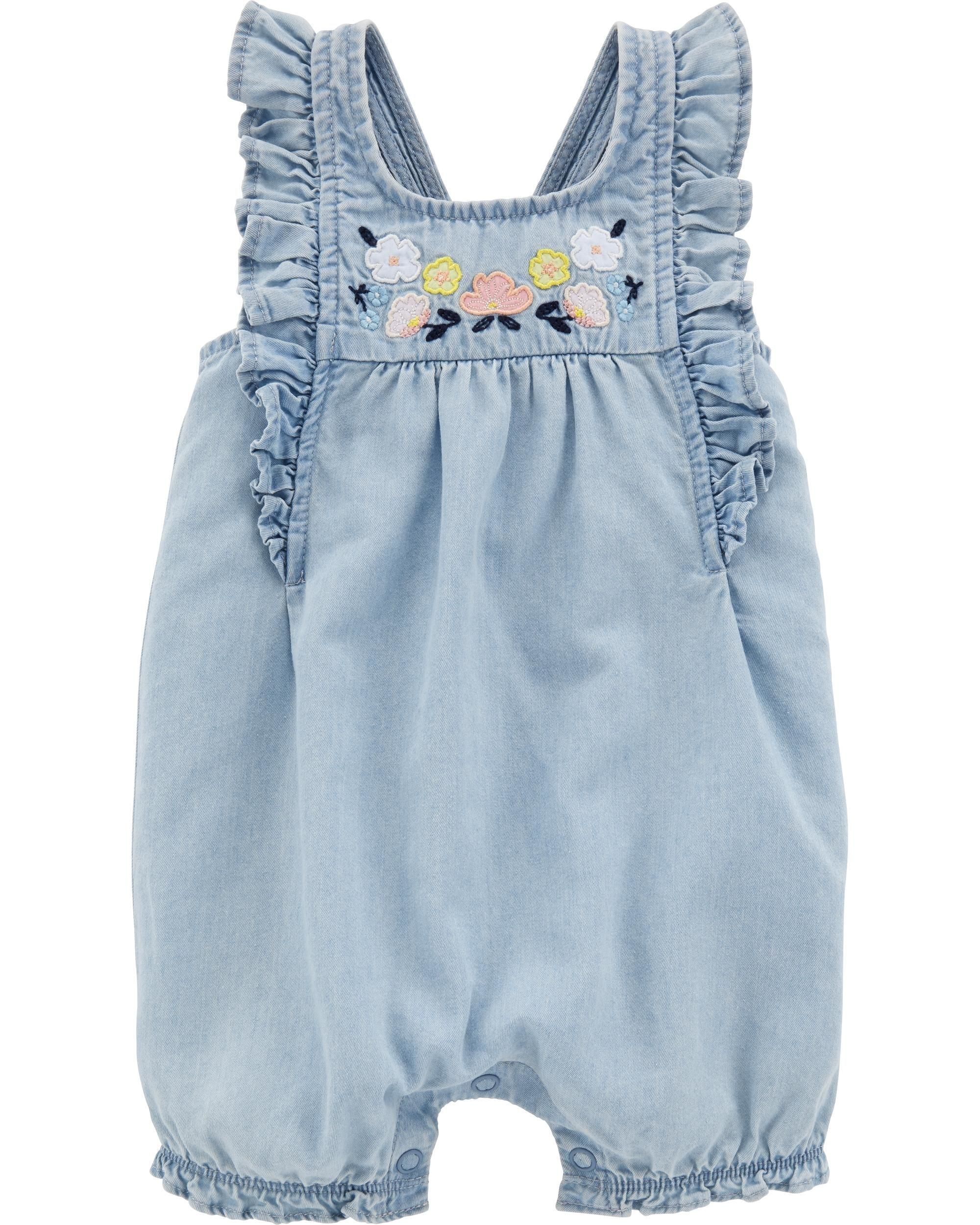 b4aec62ab Floral Chambray Romper | Future Baby 2 Girl: Clothes | Carters baby ...