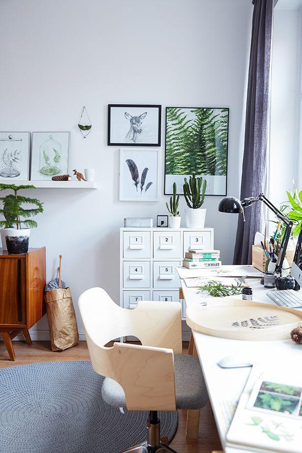 Arbeitszimmer gestaltungsmöglichkeiten ikea  IKEA FJÄLLBERGET Bürostuhl Inspiration fürs Arbeitszimmer ...