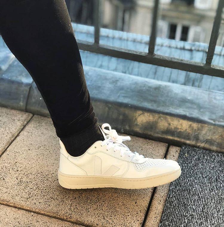 veja chaussures à bases de cuir végétal et plastique