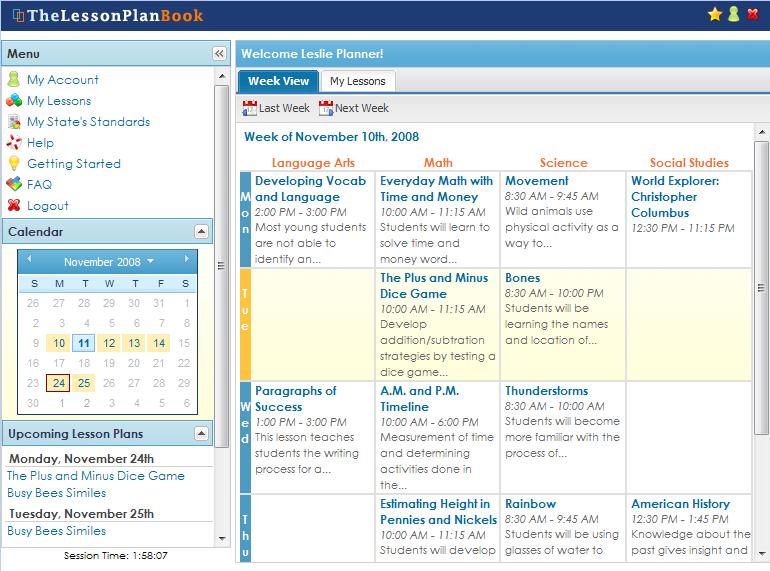 Online Lesson Plan Book   Teacher Tools   Pinterest   School ...