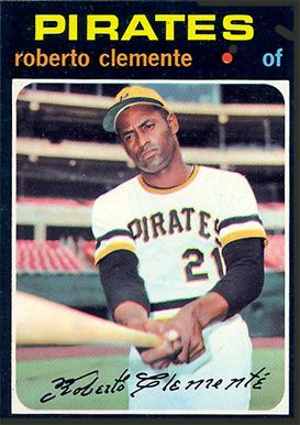 1971 Topps Roberto Clemente 630 Baseball Card Value Price Guide