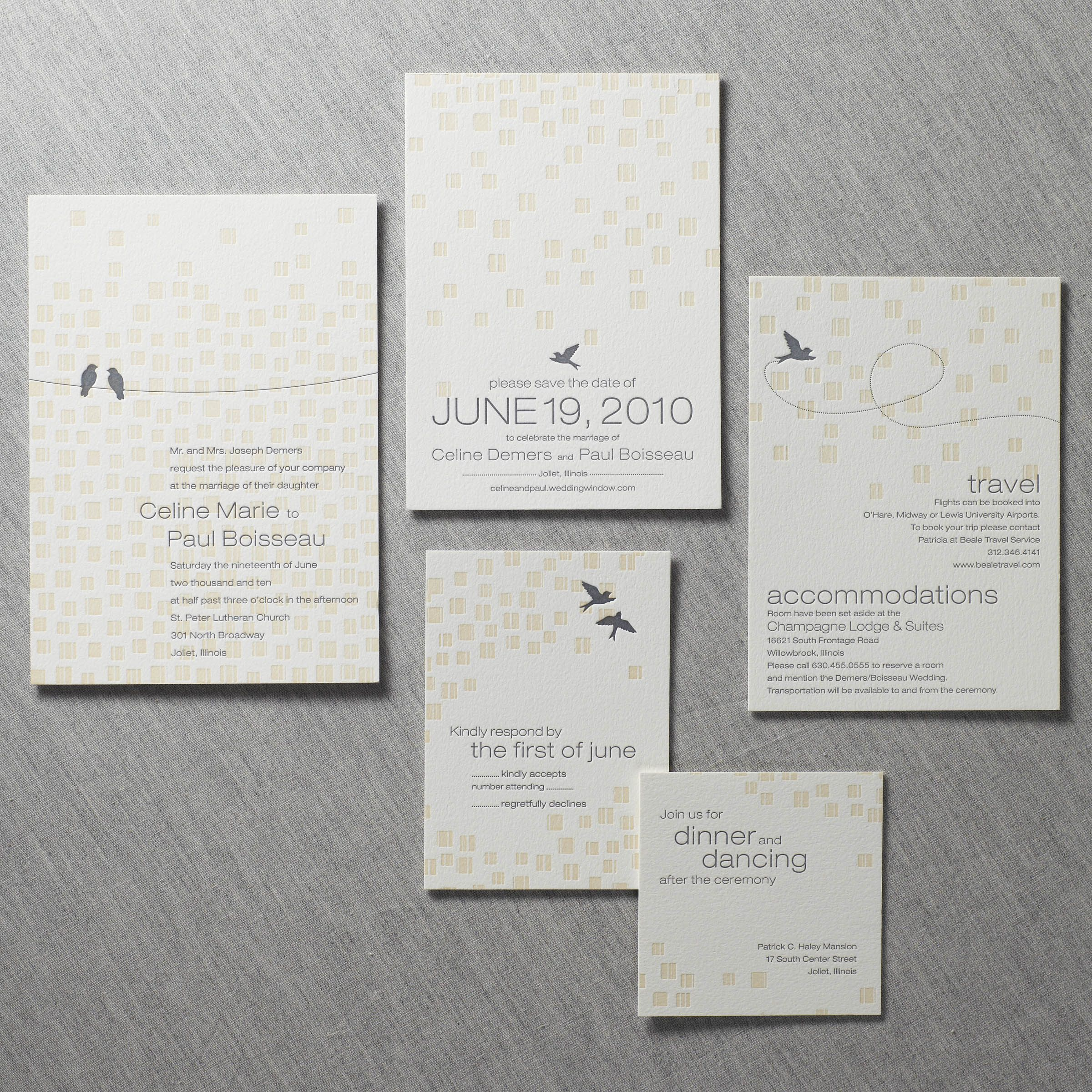 black and white wedding cards pinterest%0A Modern Wedding Invitations  Wedding Invitation Suite  Background Patterns   Love Birds  Letterpress
