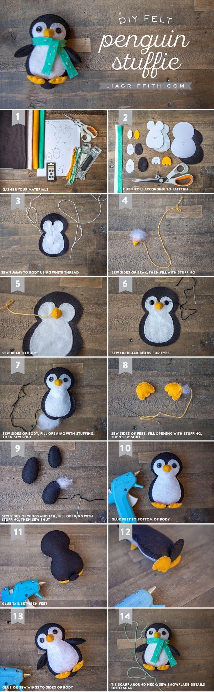 penguin felt stuffie sewing felt ornaments felt diy felt rh pinterest com