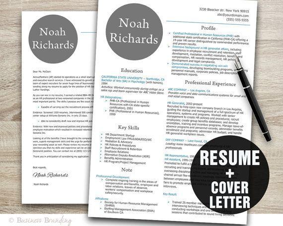 modern resume template design instant by businessbranding on etsy