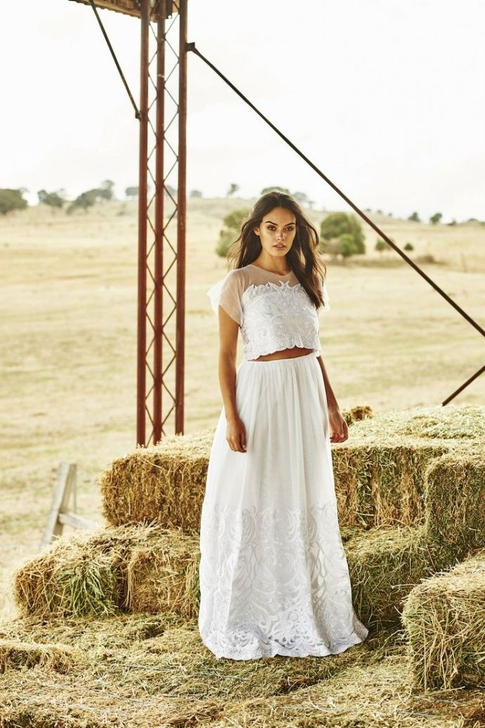 40 Totally Chic Wedding Dress Separate Ideas For Unique Brides Two Piece