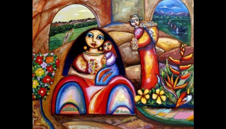Arte Peruano La Fusion De Religion Y Cultura Andina Fotos Arte Peruano Arte Arte Latinoamericano
