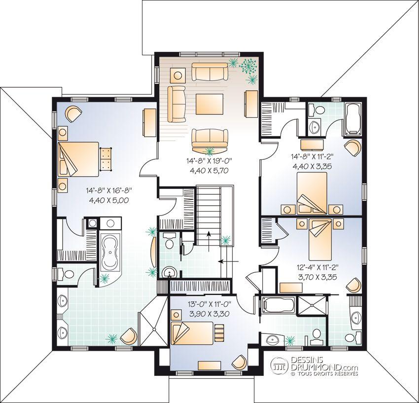 house_plan_maison_etage_2_stories_Etage_W3848 banga loge