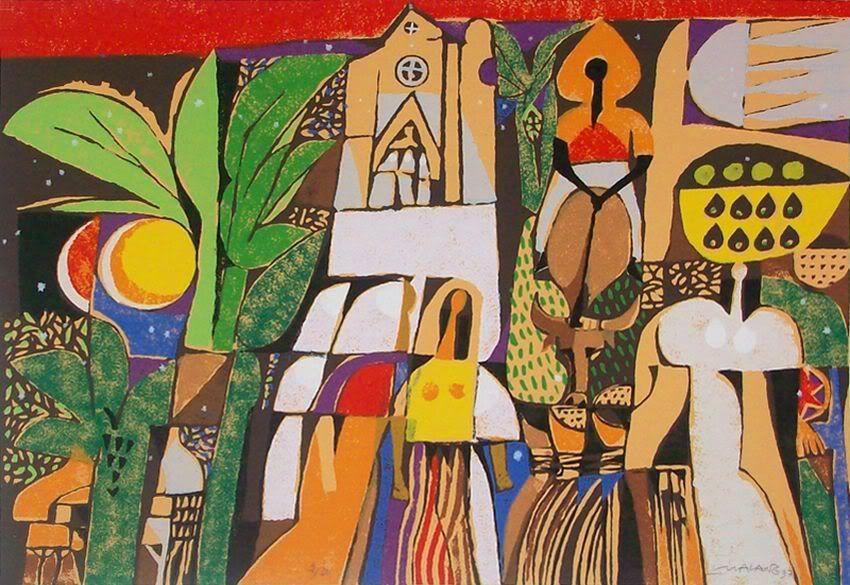 Mauro Malang Santos At The Church Philippine Art Filipino Art Painting