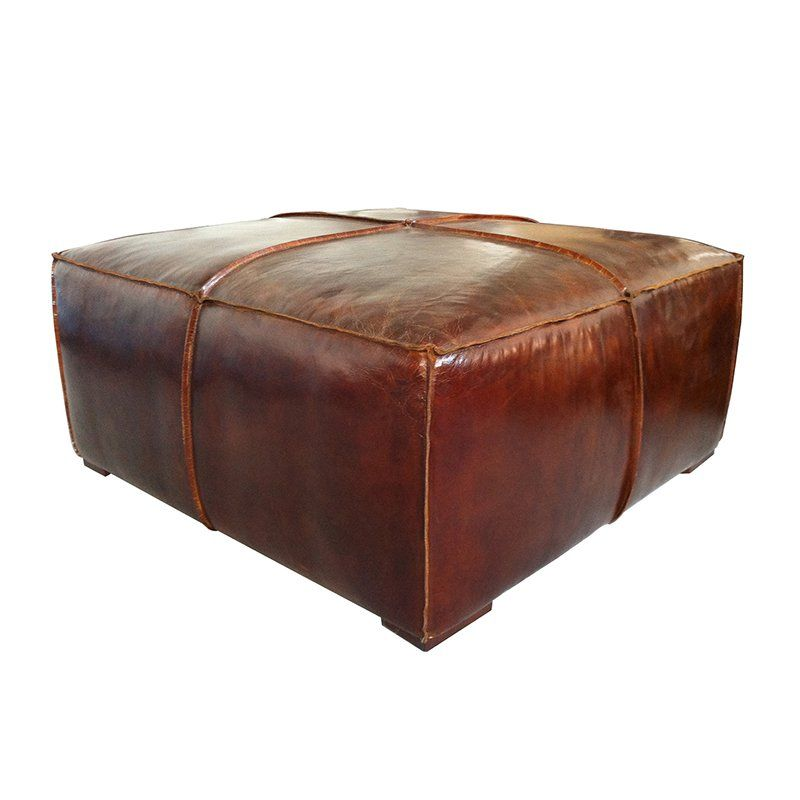 Superb Moeu0027s Home Collection Stamford Ottoman | From Hayneedle.com · Distressed Coffee  TablesLeather Coffee TableSquare ...