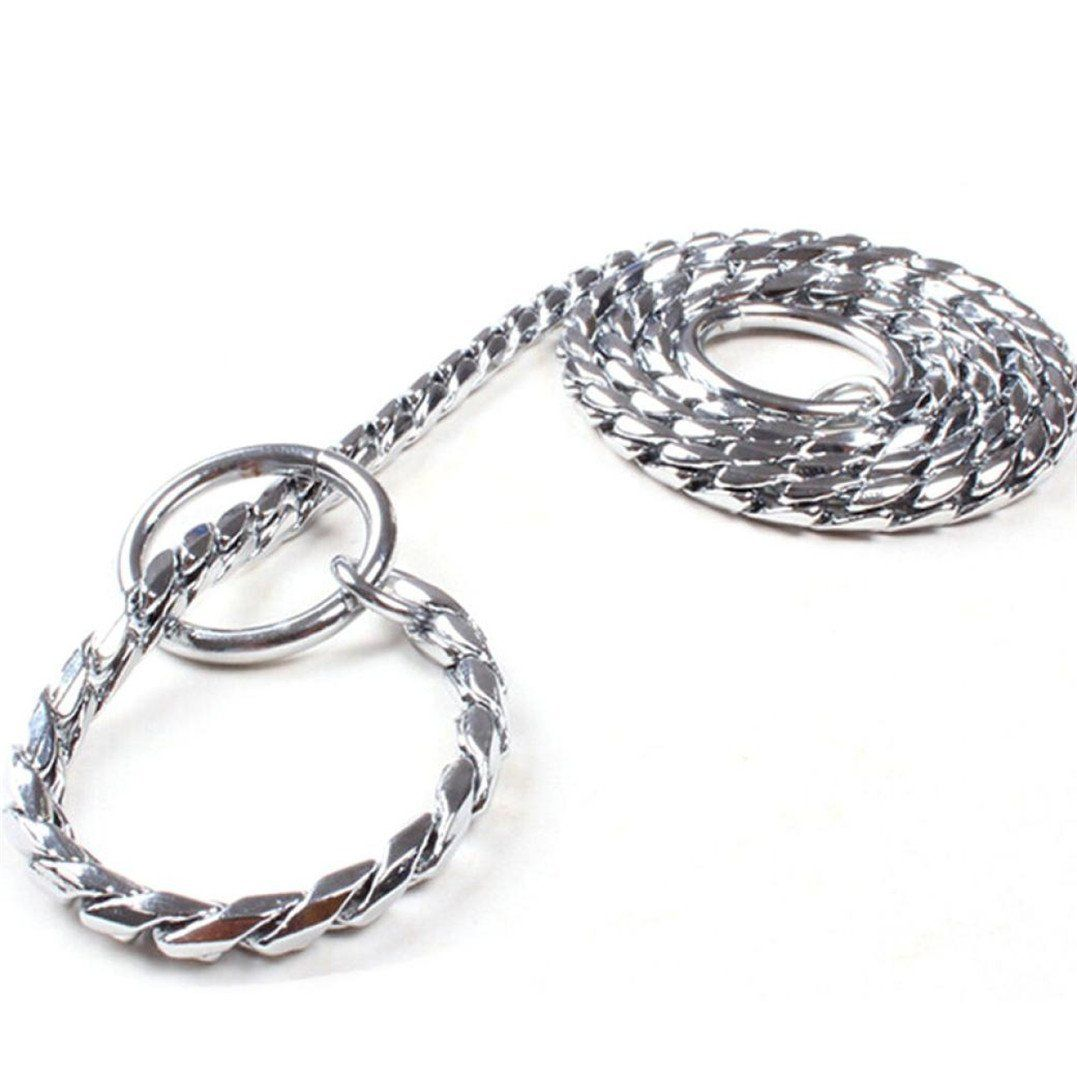 Colored Metal Choke Chains For Dogs