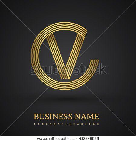 Elegant letter v