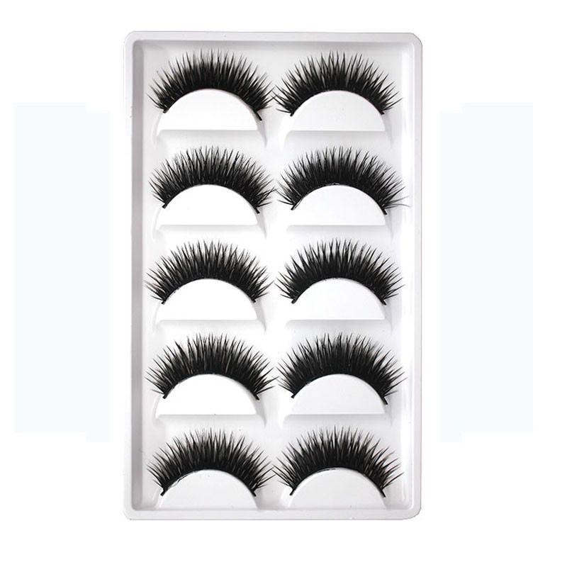 New Eyelashes Cross Makeup False Black Pairs Natural Thick Soft Bulk