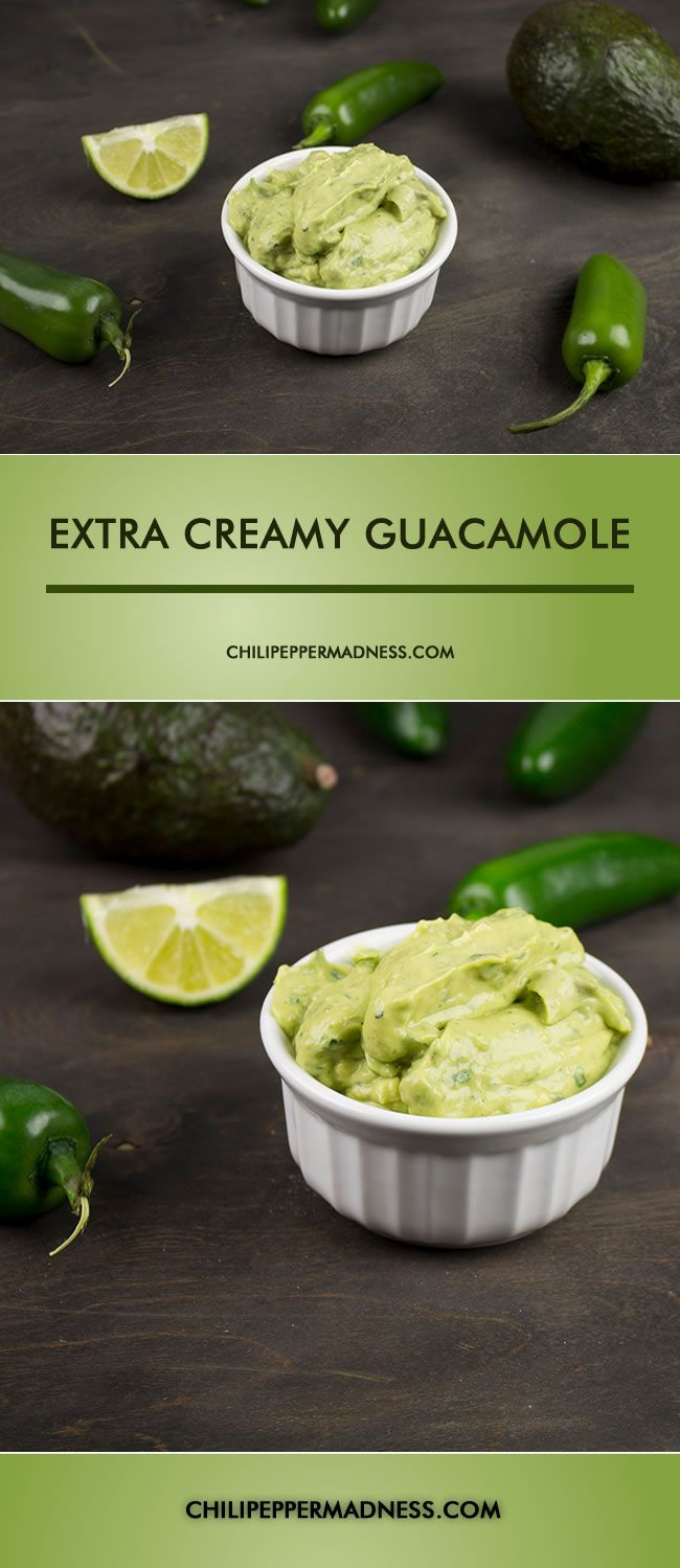 Extra Creamy Guacamole with Roasted Jalapenos