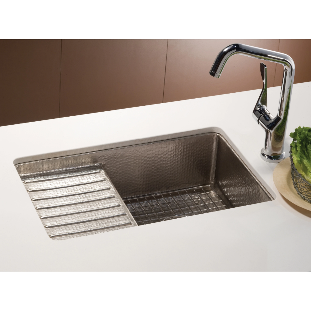 Shop Cantina Pro Brushed Nickel Drainboard Undermount Kitchen Sink Free Shipping Today Overstock 18235290 Copper Bar Sink Bar Sink Undermount Bar Sink